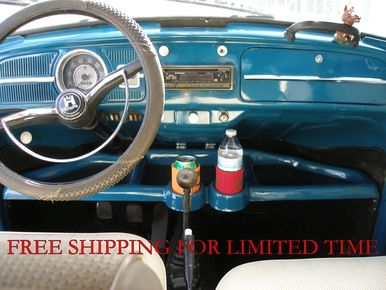 Vwtc1003 1949 1977 Vw Beetle And 1971 1972 Vw Super Beetle Underdash Fiberglass Tray With Cup Holders Vw Super Beetle Vw Beetles Cup Holder