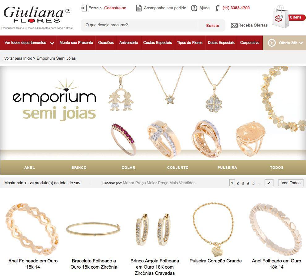 Banner Interno Giuliana Flores - página exclusiva da Emporium SemiJoias