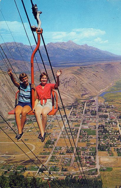 Grand Tetons Chairlift Jackson Wyoming Wyoming Travel Jackson Wyoming Grand Tetons