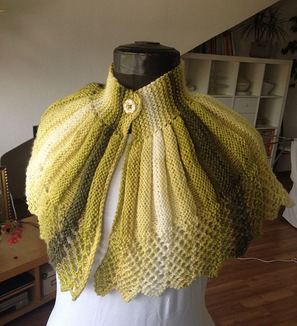 Ravelry: Project Gallery for Old fashioned knitted cape pattern by ...
