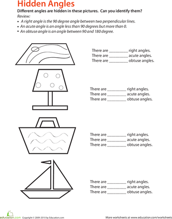 Identifying Angles Worksheets Math And Geometry Worksheets