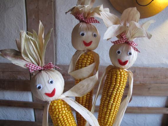 1 Harvest decoration Autumn Corn males as ornament