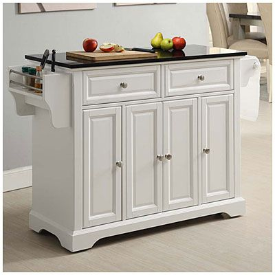 Granite Top 4 Door White Kitchen Cart White Kitchen Cart Kitchen Cart White Kitchen Tiles