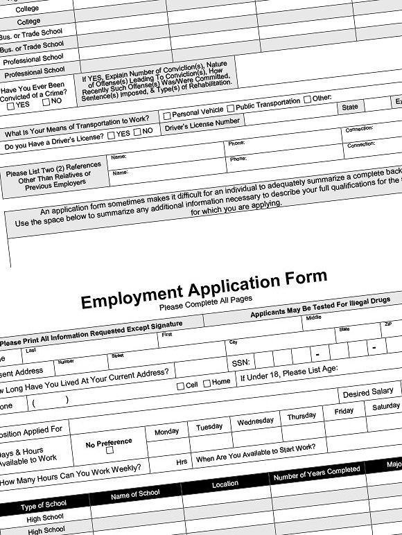 employment application fillable pdf fillable resume templates