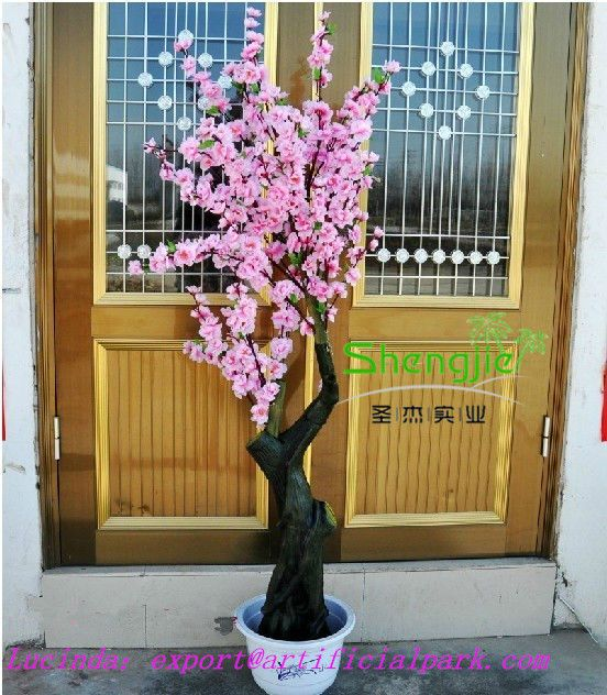 Wholesale Indoor Artificial Fake Blossom Cherry Tree Bonsai Peach Blossom Tree Artificial Cherry Blossom Tree Blossom Trees