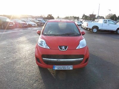 eBay: 2011 PEUGEOT 107 ENVY 1.0 PETROL 5 SD MANUAL DAMAGED ...