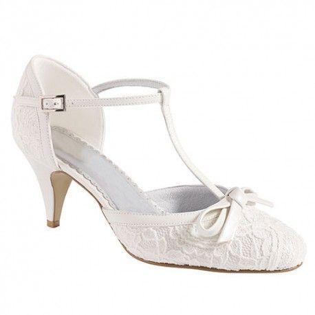 noeud petits ivoire petit chaussures de mariee escarpins CrdoeWxB