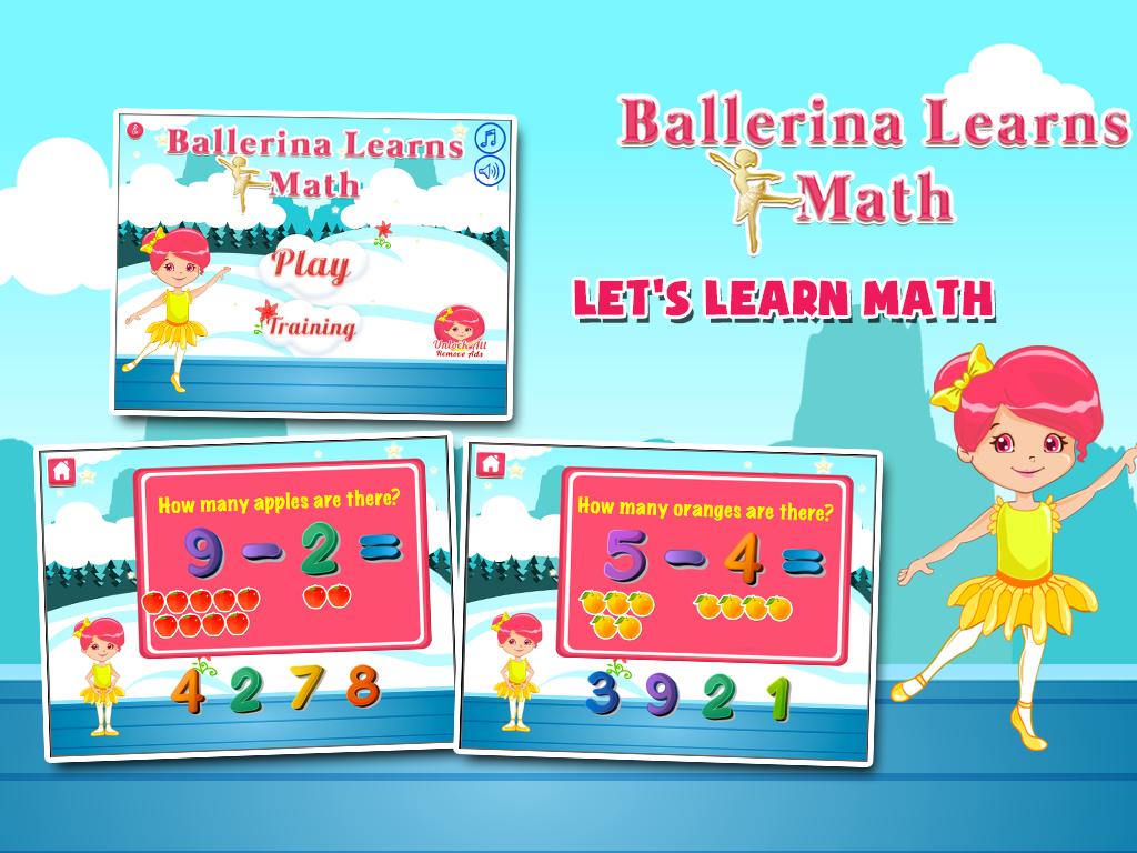 The Ballerina Super Math Adventure is a free app that
