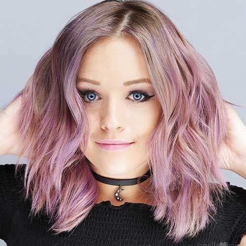 Kurze haare pastell rosa