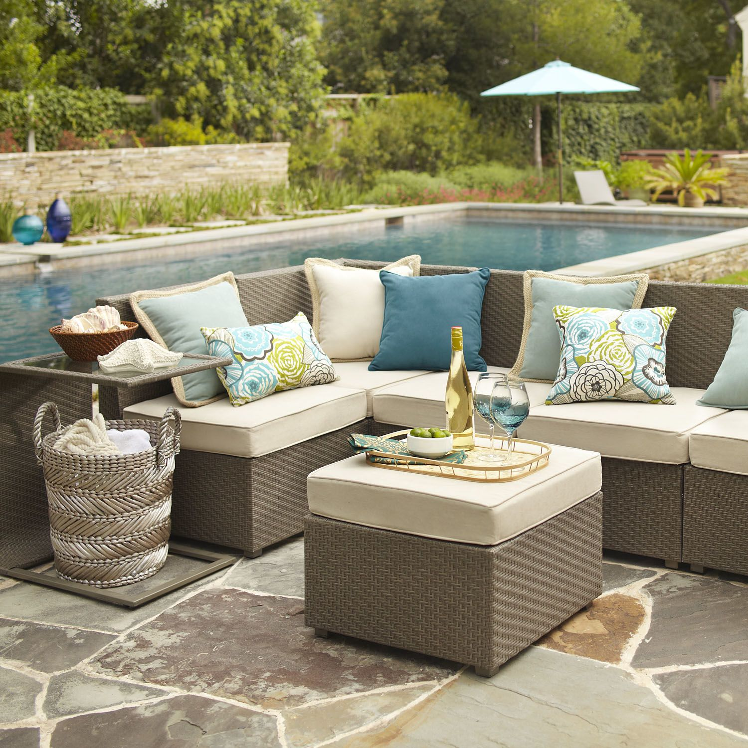 build your own ciudad sectional gray pier 1 imports outdoor fun pinterest outdoor. Black Bedroom Furniture Sets. Home Design Ideas