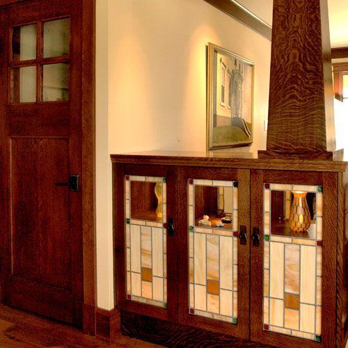 Craftsman Kitchen Oak Cabinets: Craftsman Glass Cabinets