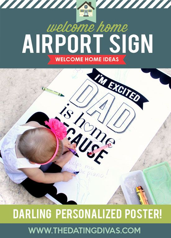 Welcome Home Printable Party Kit | Airport signs, Party kit and Gift