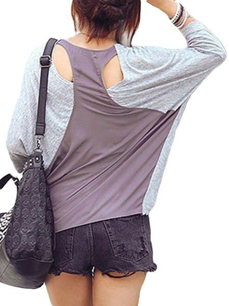 Batwing Concise Round Neck Long-sleeve-t-shirts #ClothingOnline #PlusSizeWomensClothing #CheapClothing #FashionClothing #womenswear #sexydress #womensdress #womenfashioncasual #womensfashionforwork  #fashion #womensfashionwinter