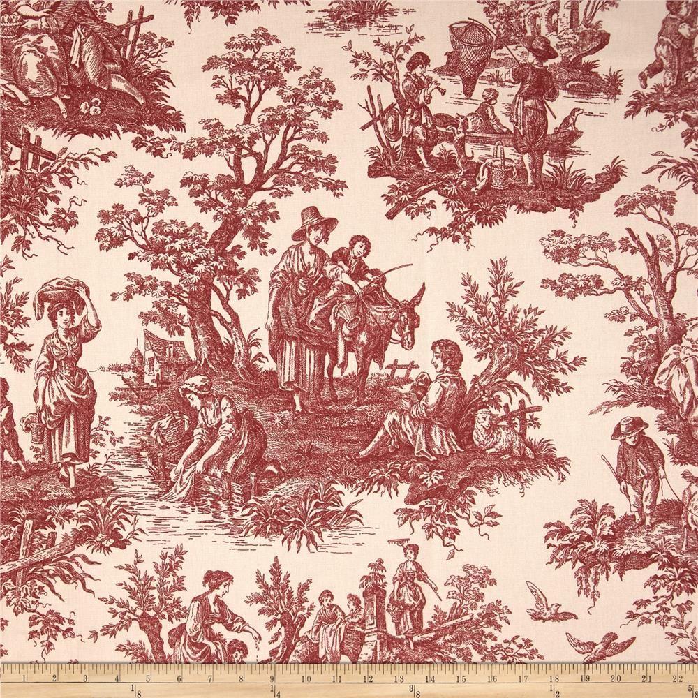 Waverly Country Life Toile Garnet Home Decor Fabric Waverly Fabric Decor