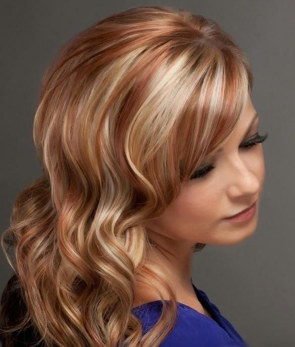 Explore Gallery Of Short Haircuts With Red And Blonde Highlights 16