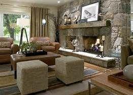 stone fireplace decorating ideas photos - Bing Images