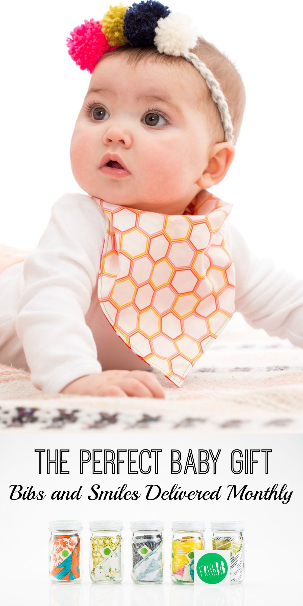 The perfect baby t subscription of monthly bibs and