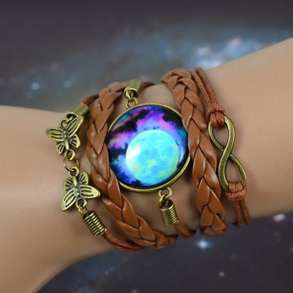 plus gros rabais qualité authentique extrêmement unique Vintage Inspired Boho Starry Moon Bracelet | Purple Relic in ...