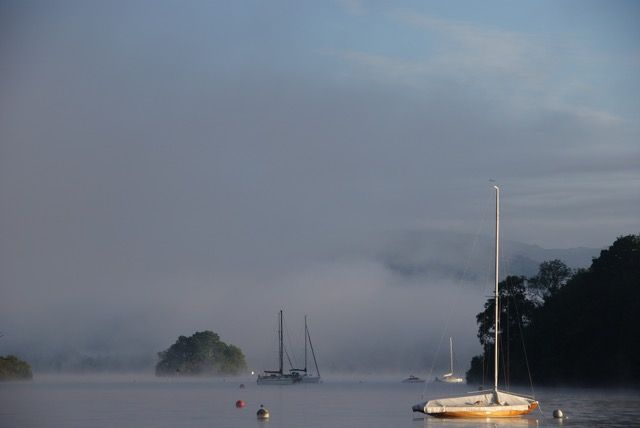 A foggy morn, Lake Windermere, Lakes District, UK