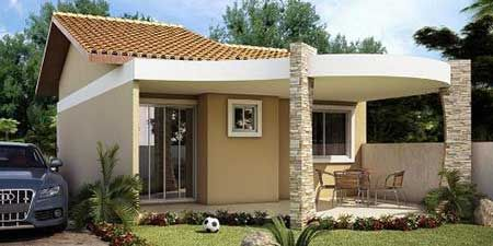 Fachadas de casas pequenas simples modernas fotos Casas modernas y baratas