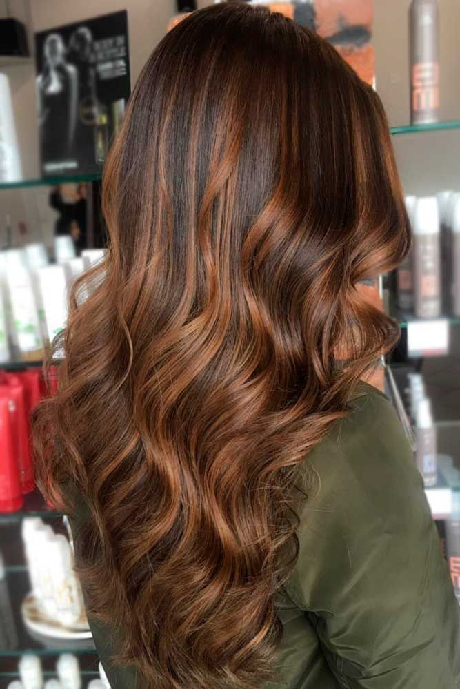 55 Highlighted Hair for Brunettes #copperbalayage