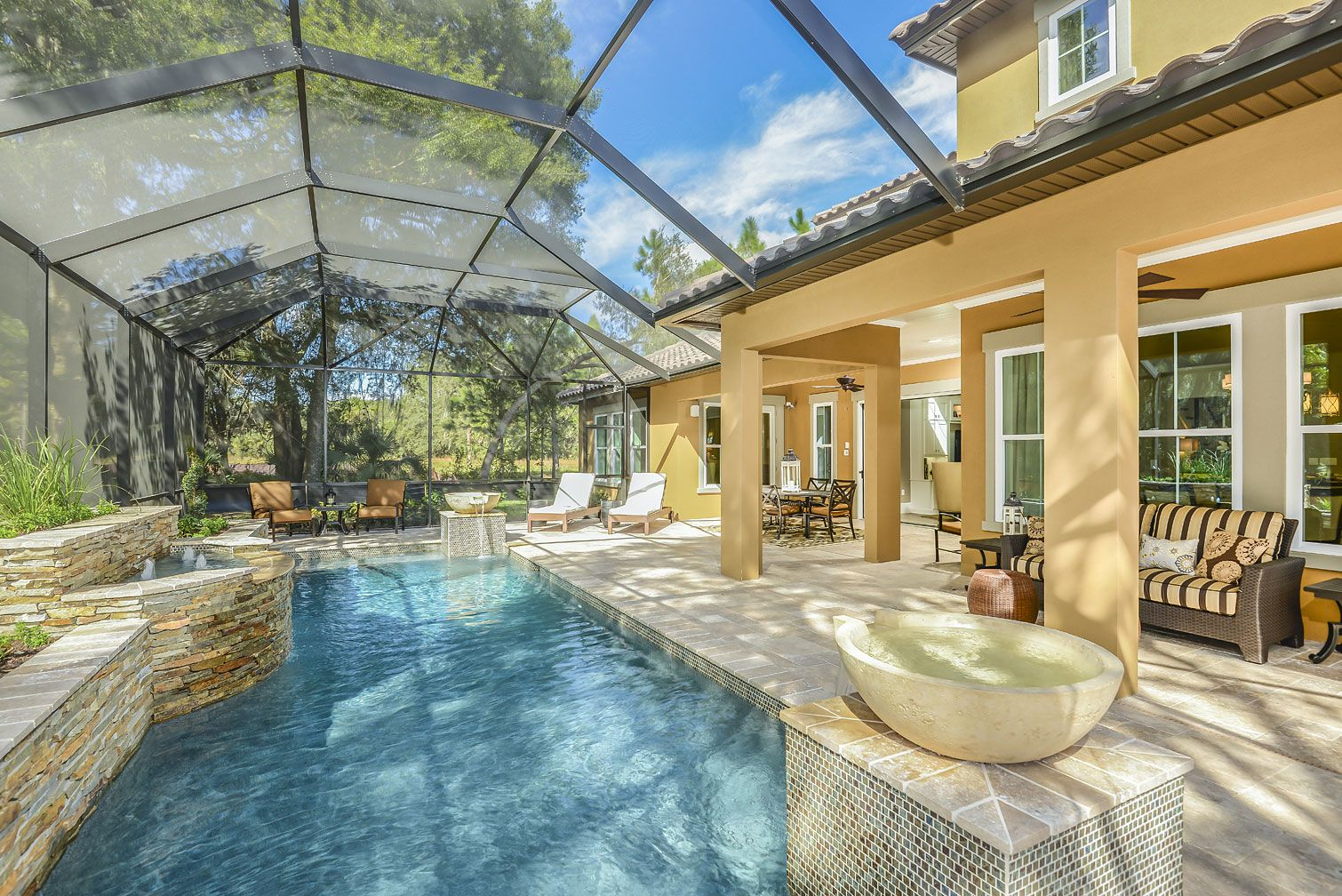Great Exquisite Pool And Lanai By Ashton Woods  Durango In FishHawk Ranch