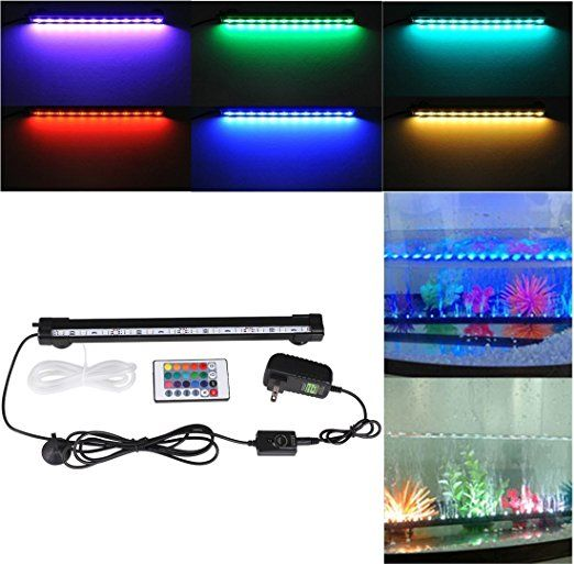 Deckey 12 Inch Rgb 16 Colors Underwater Aquarium Led With Remote Led Aquarium Lighting Fish Tank Lights Aquarium Led