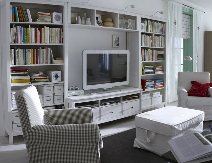 Hemnes tv storage google search living family room ikea room living room for Ikea living room storage ideas