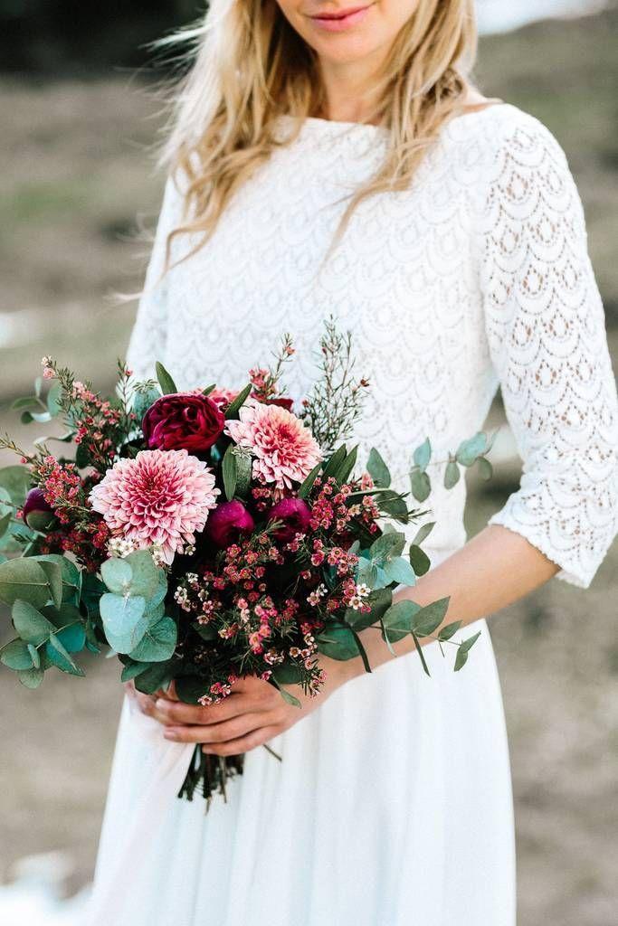 Spitzentop für die Braut mit grober Spitze - Kate #florists