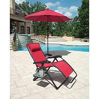 Extra Large Anti Gravity Chair With Side Table Red Sam S Club