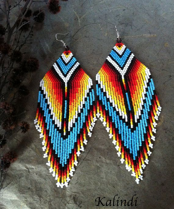 Native American Style Beadwork Native Style Earrings