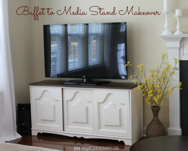 Buffet To Media Stand Makeover Diy Craft Ideas