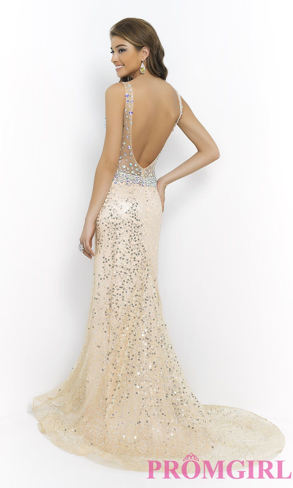 Image of Beaded Evening Gown by Blush 9925 Style: BL-9925 Front ...
