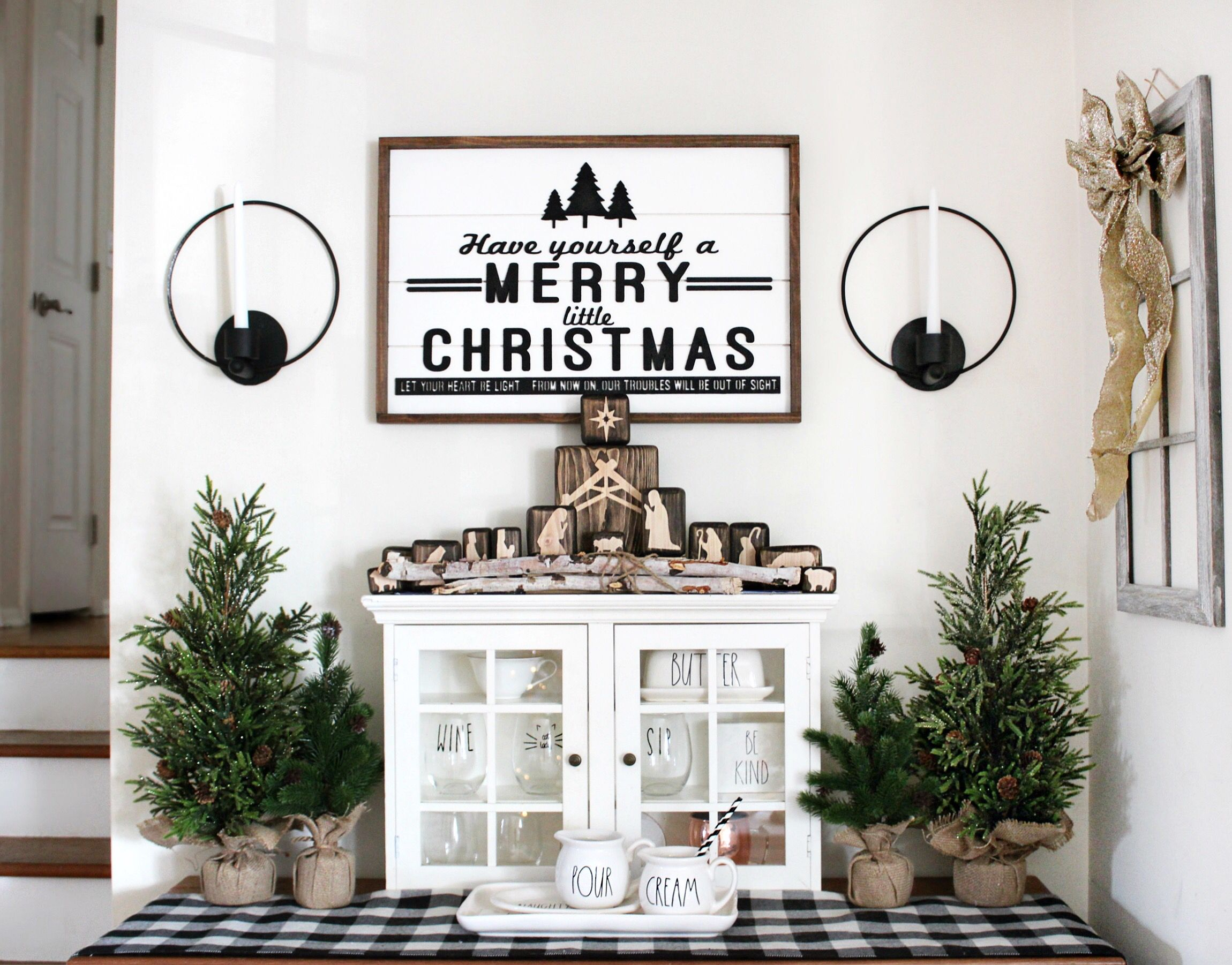 Christmas decor farmhouse style target home rae dunn