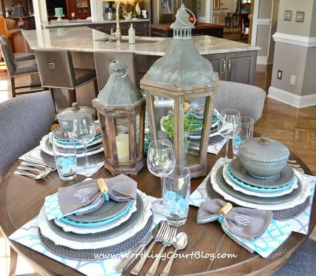 Pretty Table Settings Beautiful And Casual Turquoise And
