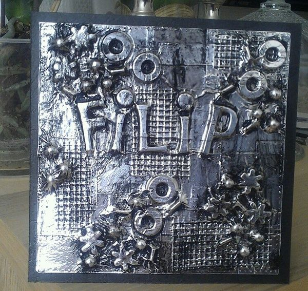 Pin By Patty Canfield On Beautiful Cards And Babies Metal Tape Art Tin Foil Art Foil Art