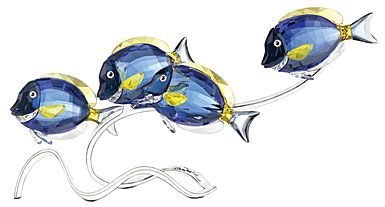 Deluxe Crystal FISH Figurine Sale NEW Blue With Clear Fins