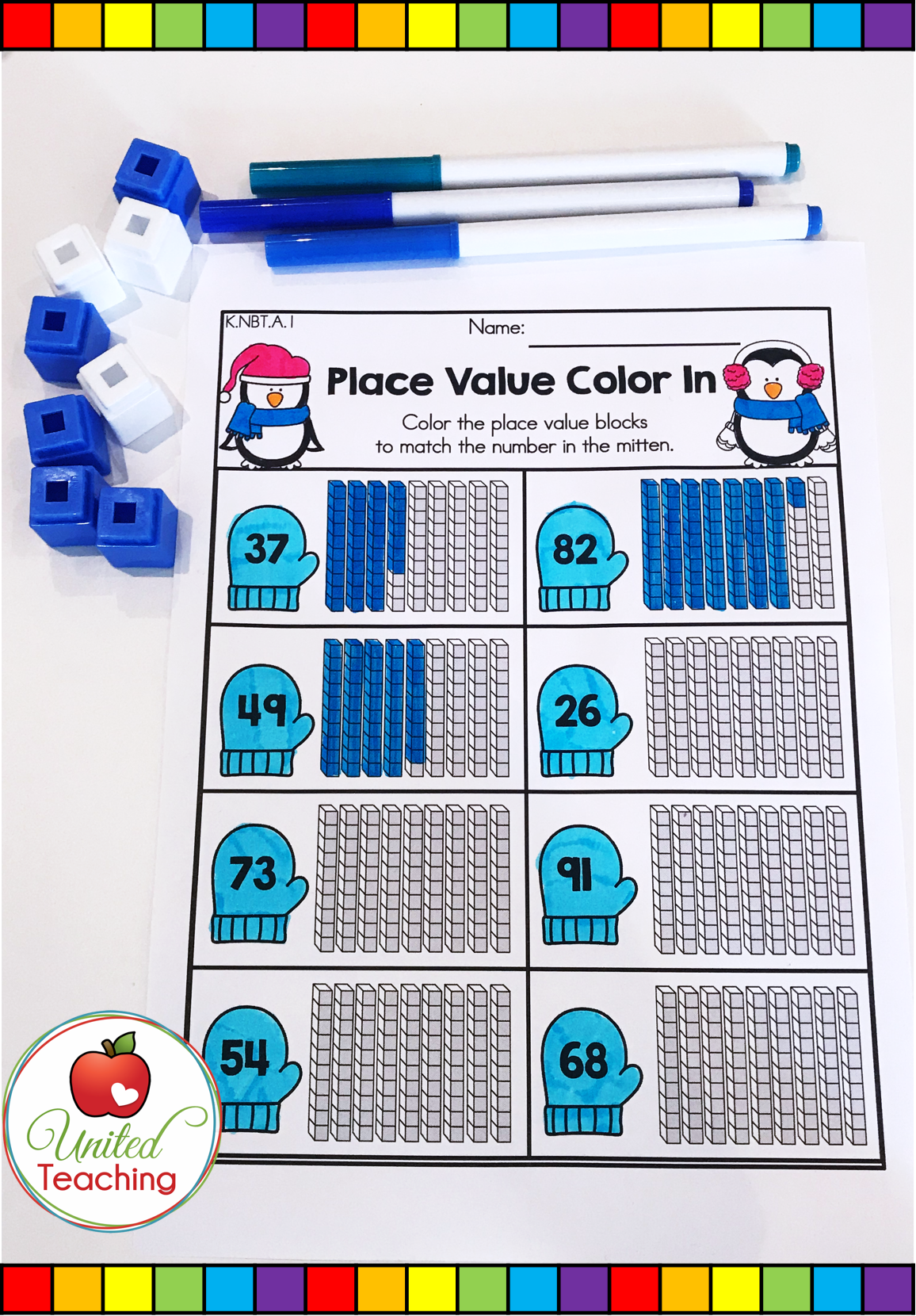 Winter Math Worksheets 1st Grade