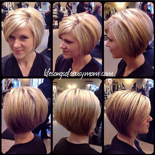 Tremendous Life Songs Of A Busy Mom How I Style My Inverted Or Stacked Bob Short Hairstyles For Black Women Fulllsitofus