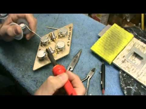 DIY Video Soldering up a 50s Style Les Paul Wiring Harnesswmv