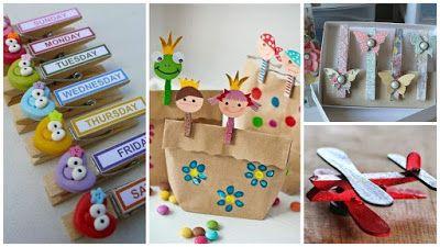 10 Ideas para decorar pinzas de ropa de madera ~ Mimundomanual