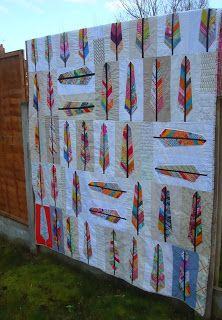 Bees of a Feather quilt | Charm About You {Uses AMH pattern ... : feather quilt pattern - Adamdwight.com