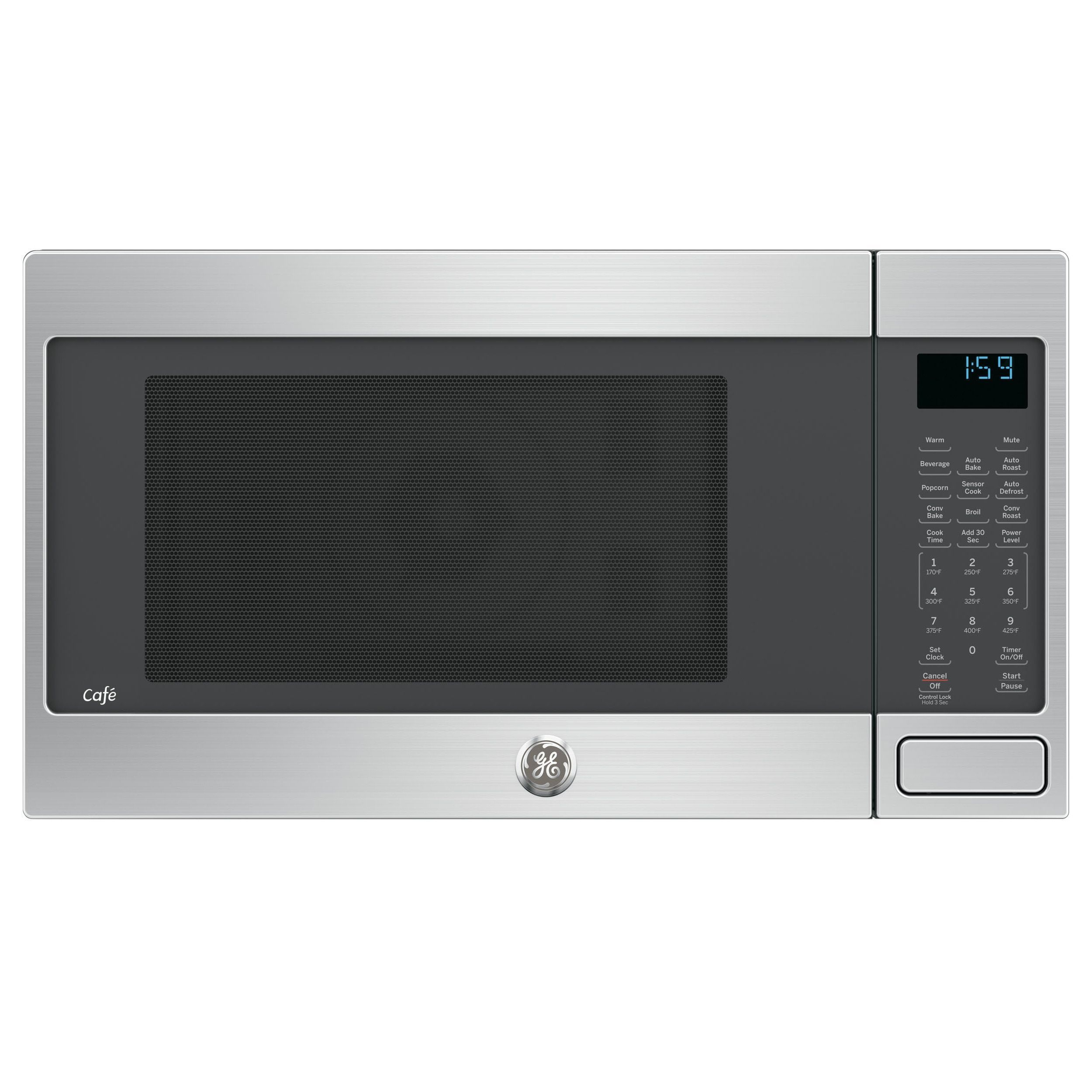 Ge Cafe Series 1 5 Cubic Feet Countertop Convection Microwave Oven Stainless Steel