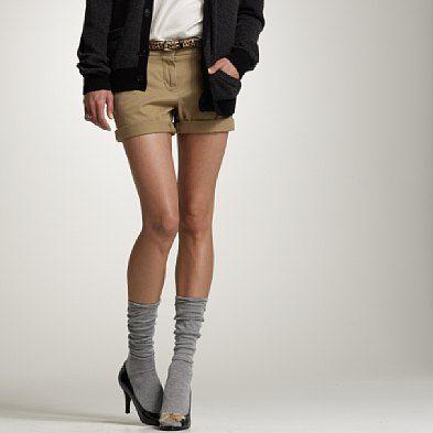 knee highs and heels.