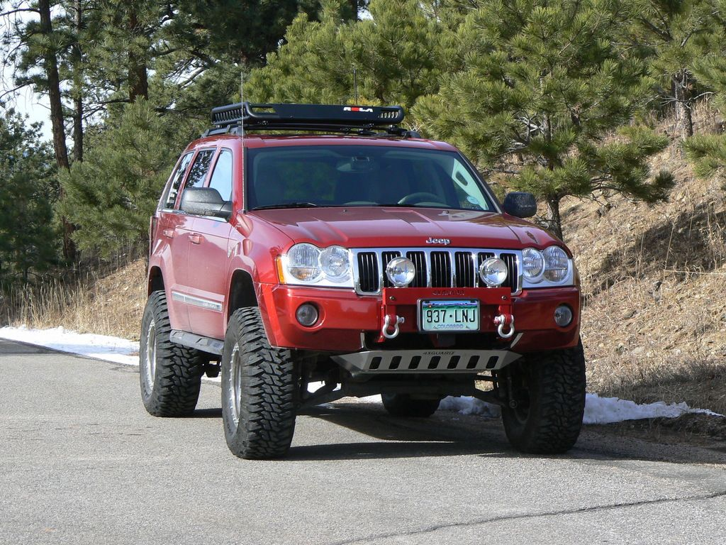 2006 jeep grand cherokee in red with bull bar winch google search