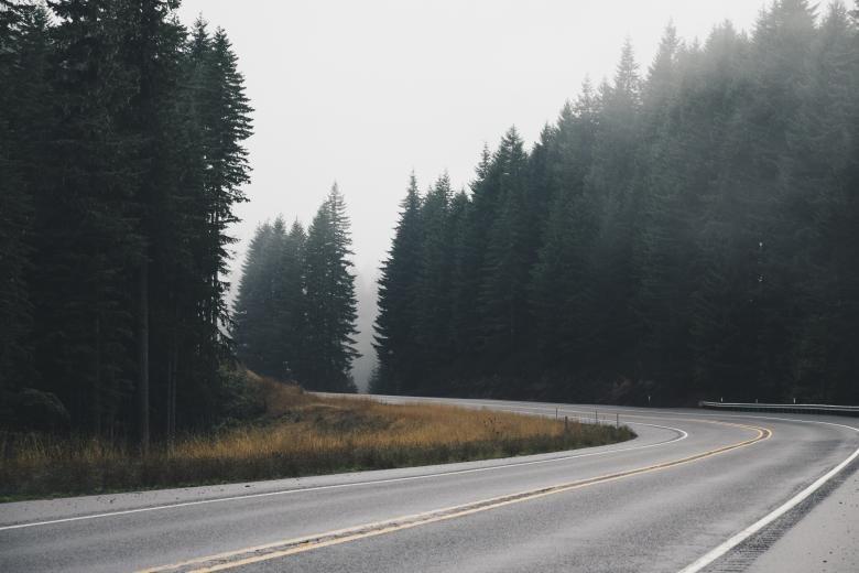 Free Stock Photo of The Turn | Дорога, Пейзажи и Мысли