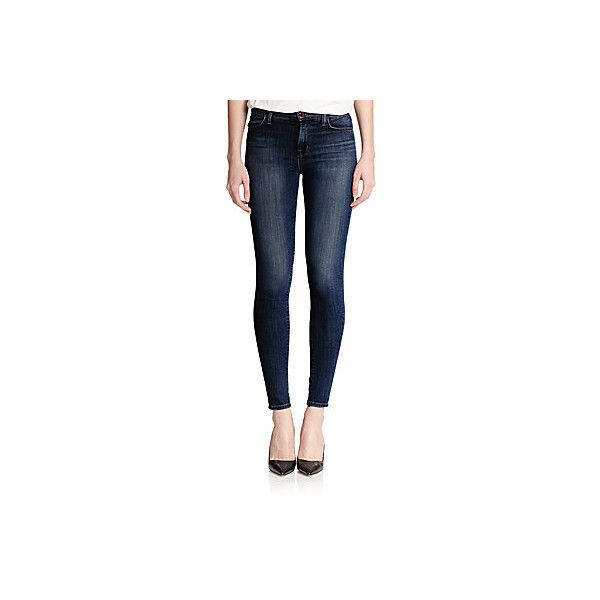 J BRAND Maria High-Rise Skinny Jeans ( 75) ❤ liked on Polyvore featuring b5a4f63ac59