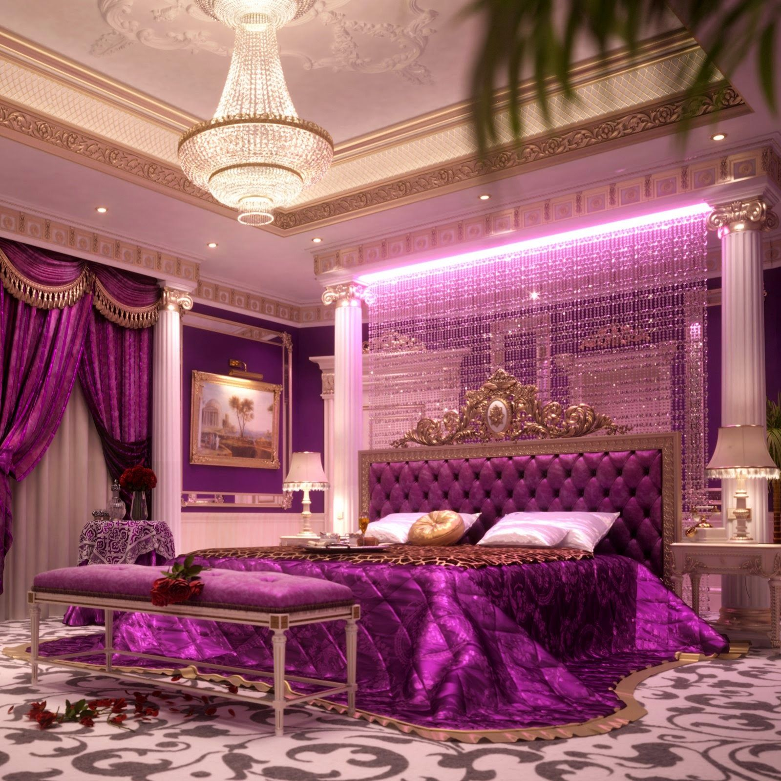 Image result for royal bedroom | Purple bedrooms, Remodel ...