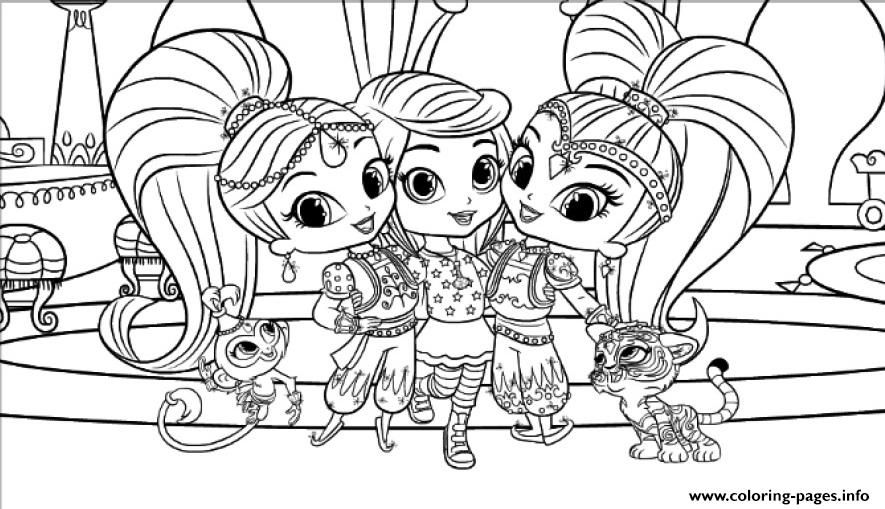 Leah Shimmer And Shine Coloring Pages Mermaid Coloring Pages Animal Coloring Pages Cartoon Coloring Pages