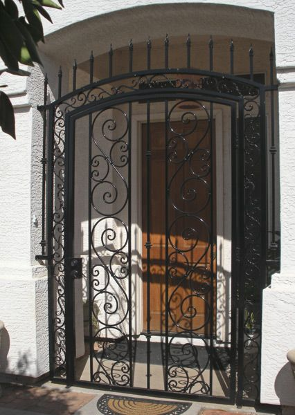 Doors & The 12\u0027 tall opening is secured with not only a beautiful gate but ... Pezcame.Com